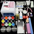 Hot Nail set tools art 36W UV Lamp + 12 Color UV Gel + Builder gel Art Tool Kits nail manicure set