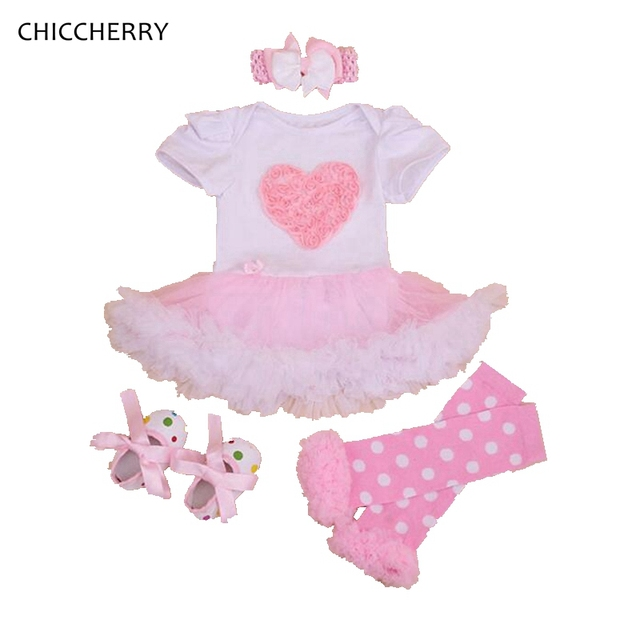 6abb4083fc2c Heart Lace Ruffle Romper Dress Baby Girl Valentine Tutu Outfits ...