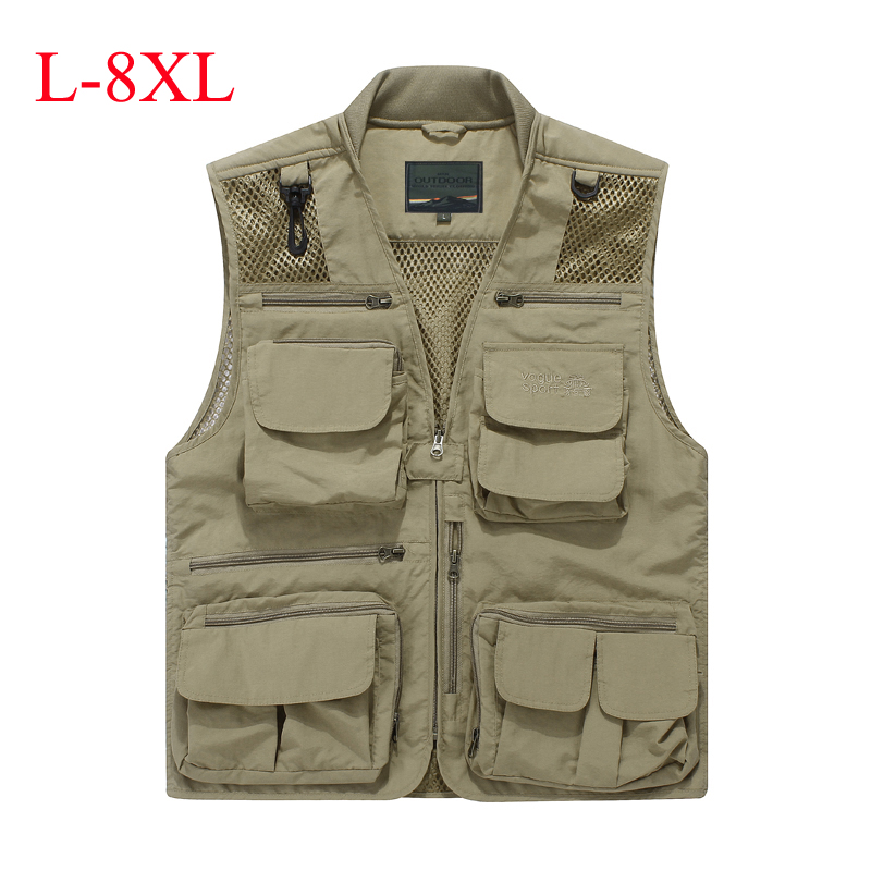 Summer outdoors tactical mesh multi pockets vest men breathable shooting director photographer hunting hiking vest big size 6XL summer outdoors tactical mesh multi pockets vest men breathable shooting director photographer hunting hiking vest big size 6xl