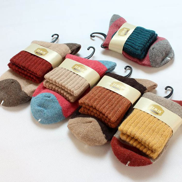 5pair Womens stockings for winter must be made of rabbit wool socks warm stockings for high grade and thick cashmere socks