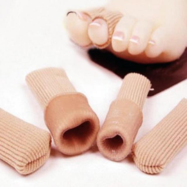 Tecido de Cor cáqui + Almofada Tubo de Gel Protetor Do Dedo Do Pé de Calos 843d237194a62
