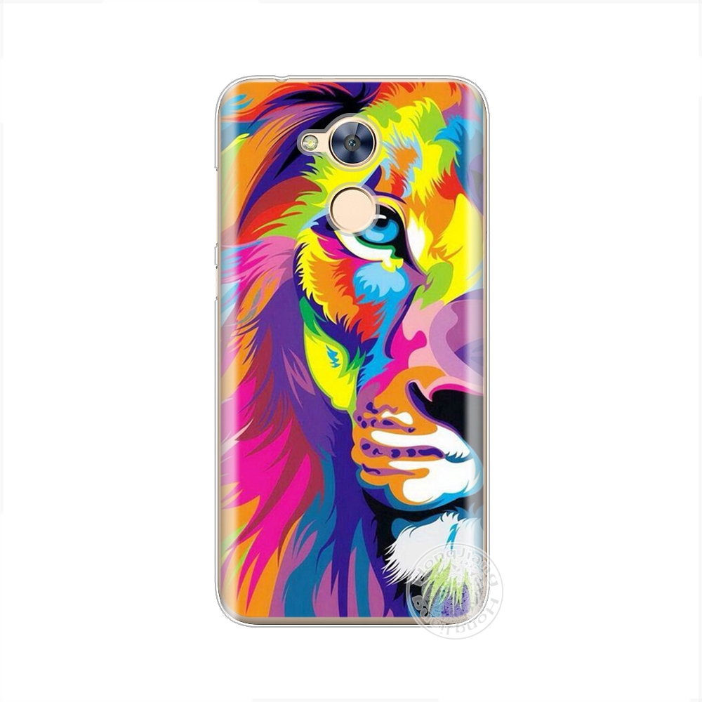 HAMEINUO lion tiger wolf animal print cell phone case cover for huawei honor 6A in Half wrapped Cases from Cellphones Telecommunications