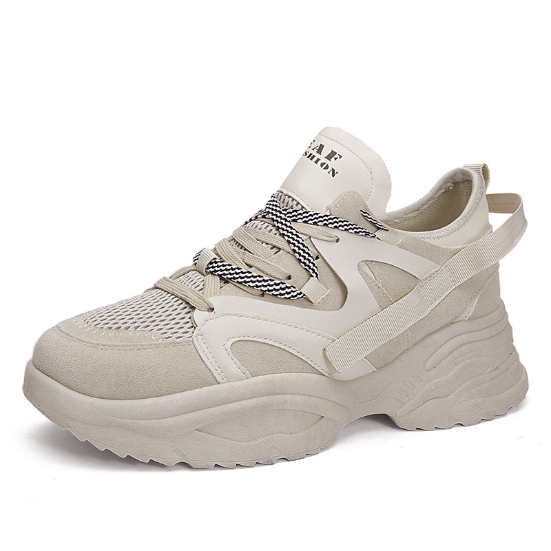 Beige Kanye Lace Tenis Casual Chaussures noir Sneakers Hip Hop Zapatos Respirant Up West De Hombre Joker Appartements Automne blanc Hommes pTBvpw