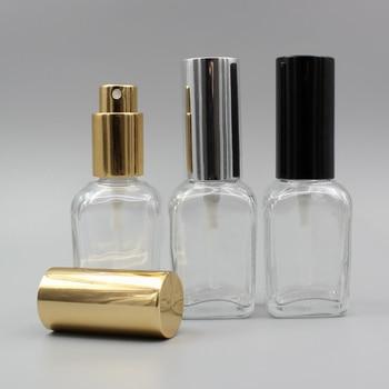 1oz Glass Clear Square Mist Spray Pump Bottle, 30ml Perfume Spray Bottle