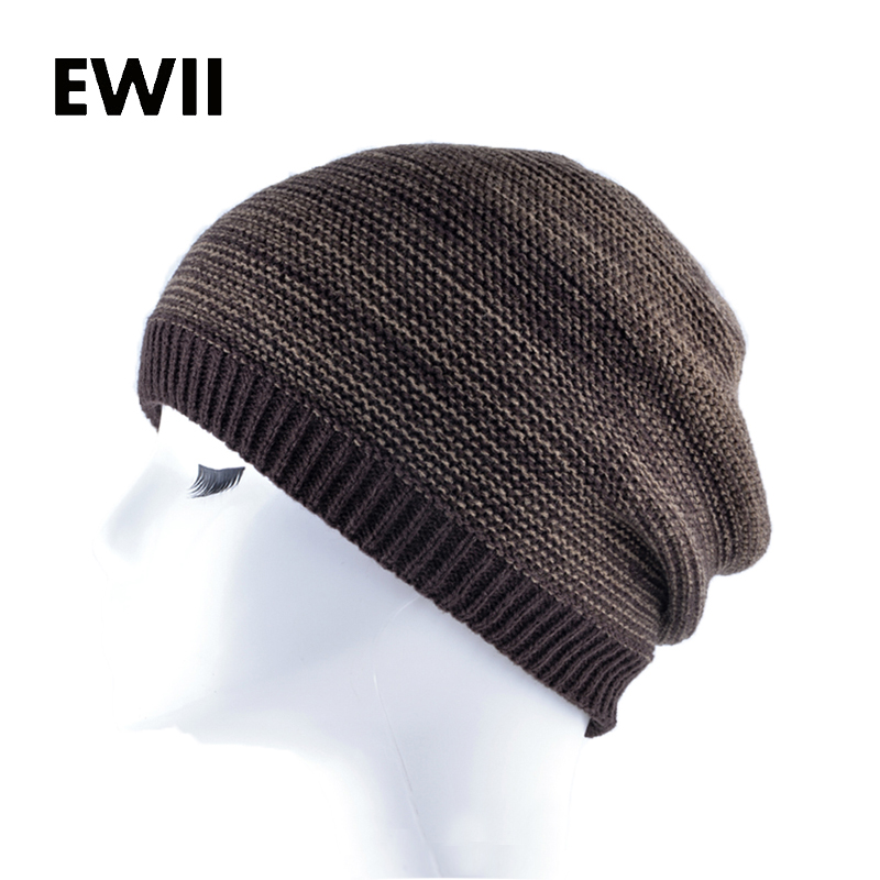 Winter solid color hats for men knitted wool hat skullies beanies warm cap men hip hop beanie caps gorra hombre bonnet new winter beanies solid color hat unisex warm grid outdoor beanie knitted cap hats knitted gorro caps for men women