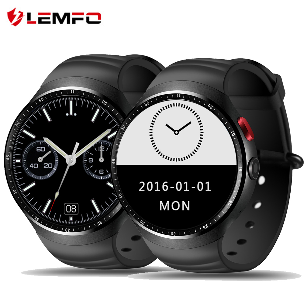 LEMFO LES1 Android 5.1 OS Smart Watch Phone MTK6580 1GB / 16GB Smartwatch Support 3G wifi GPS SIM card with 2.0 MP Camera children s smart watch with gps camera pedometer sos emergency wristwatch sim card smartwatch for ios android support english e