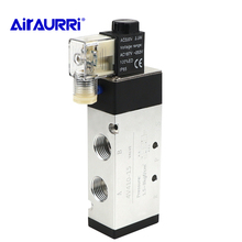цена на DC24V/DC12V/AC24V/AC36V/AC220V/AC380V with Fittings 5 port 2 position Solenoid Valve   4V410-15 good quality