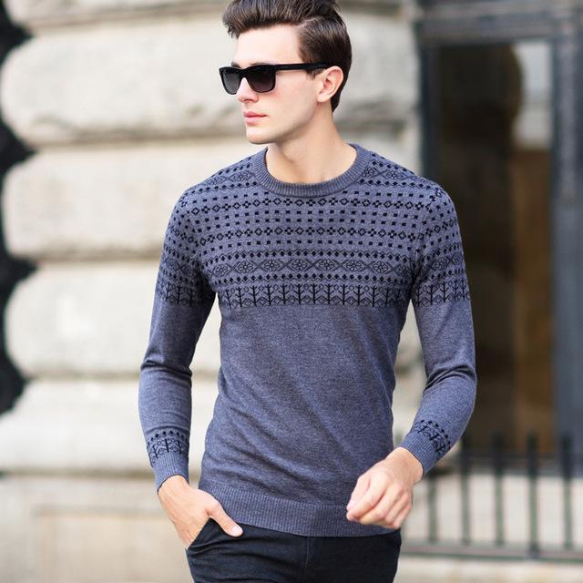 Primavera y otoño para hombre suéter de lana suéter de cuello de tortuga hombres de moda del suéter