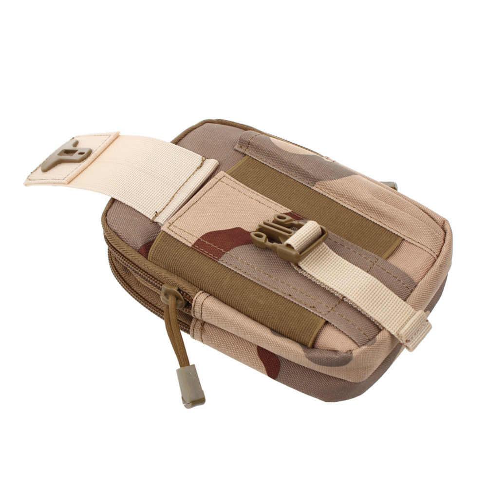 LUCKBUY ユニバーサル屋外の戦術的なホルスター軍事モールヒップウエストベルトバッグ財布ポーチ財布電話ケースのためのジッパーと S8 LG