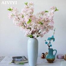 Импортные товары отличный продукт искусственный Сиреневый цветок Свадебный букет Вишневый цветок Шелковый Искусственный цветок для свадьбы DIY домашний деко