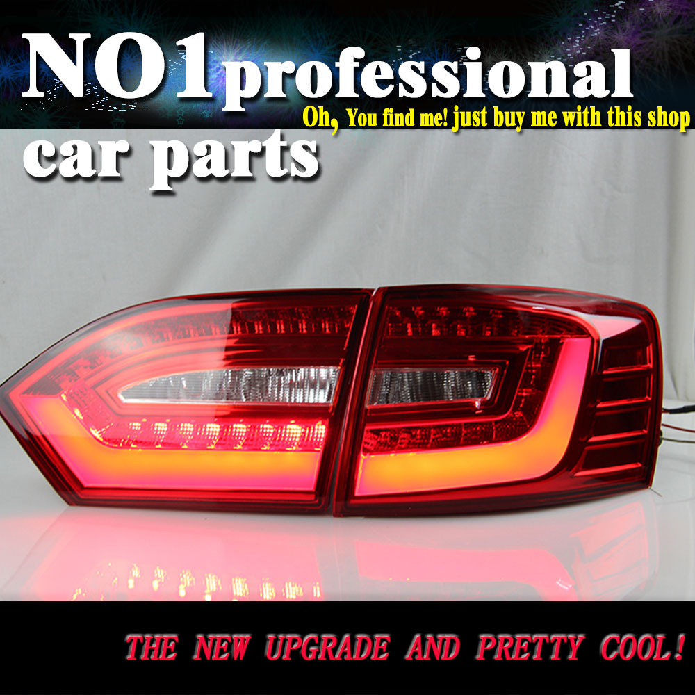 Car Styling 2011 2012 2013 2014 For vw jetta  taillights  LED Tail Lights  Rear Lamp LED DRL+Brake+Park+Signal Stop Lamp car styling tail lamp for ford mondeo fusion 2013 2016 tail lights led tail light rear lamp led drl brake park signal stop lamp