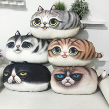 3D Gato de la Historieta de Lana Fundas de Colchón 55 cm * 32 cm Decorativo Animal Throw Pillow Fundas Para Sofá Mullido Navidad funda de almohada Juguete