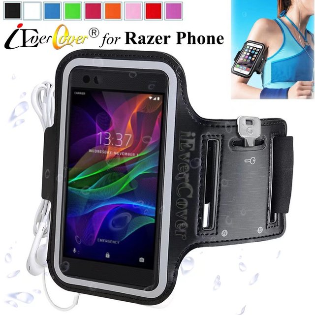 best website 68ca5 832f4 US $3.03 24% OFF|iEverCover Running Arm Band Case for Razer Phone 2 Phone2  / Phone Smartphone Waterproof PU Leather Cover Capa Fundas-in Phone Pouch  ...