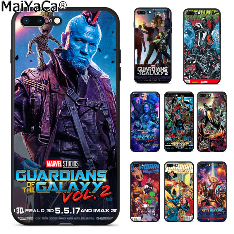 MaiYaCa Guardianes de la Galaxia. 23 Colorful Phone Case Fashion Soft TPU Cover for Apple iPhone 8 7 6 6S Plus X 5 5S SE 5C