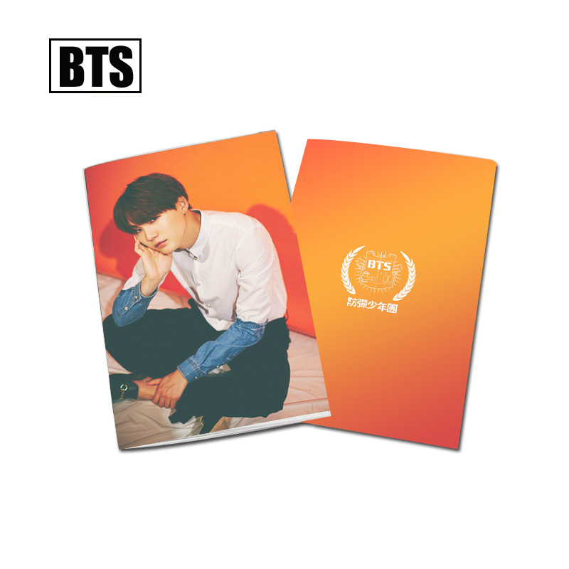 [MYKPOP]BTS WINGS Photo Exercise Book Lined Big Study Notebook Workbook Diary Notebook K ...