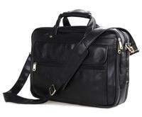 Promotion Guaranteed 100 Cowhide Leather Men Briefcase Messenger Bag Men S Travel Bag 15 6 Laptop