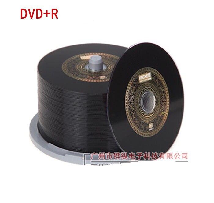 Wholesale 10 Discs 100% Authentic Max-Brand Blank 4.7 GB 16X DVD+R Gold Black Discs