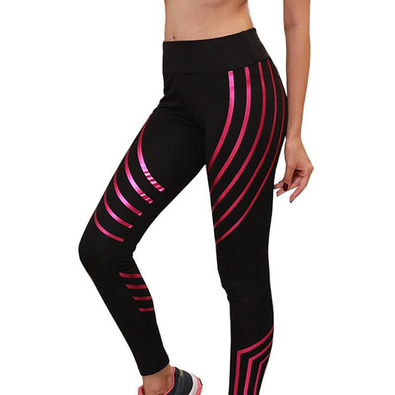 TOIVOTUKSIA Pattern Print Leggings Fitness Leggings For Women Sporting Workout Leggins Elastic Slim Black Red Blue Pants in Leggings from Women 39 s Clothing