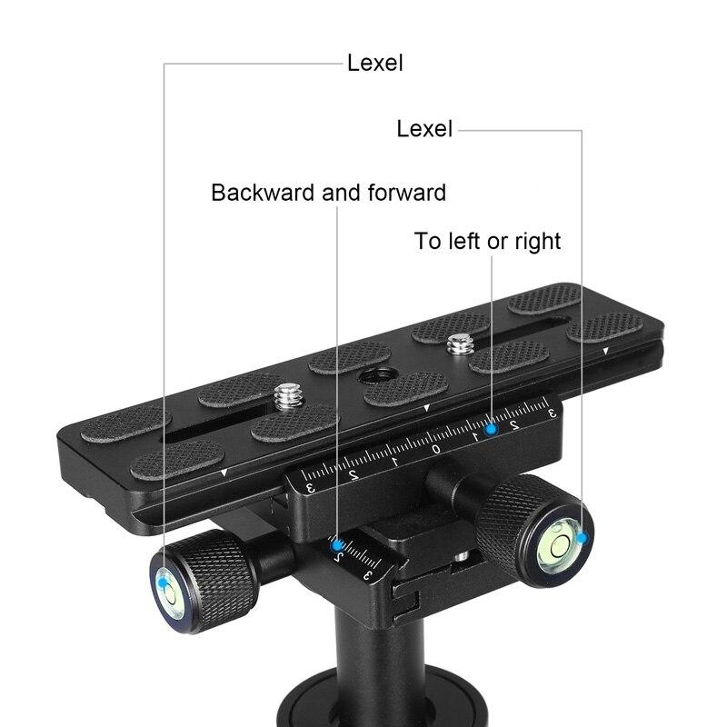Portable stabilisateur de poche S40 Vidéo Steadycam Stabilisateurs Avec Plateau Rapide Pour Canon Nikon Sony Caméra GoPro ND998