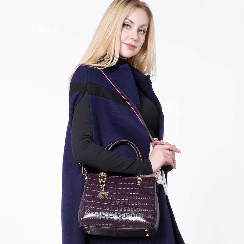 MAIS REAL mulheres bolsa de couro genuíno saco bolsas com estampas de animais do sexo feminino casual top-handle bolsa das senhoras da forma saco crossbody
