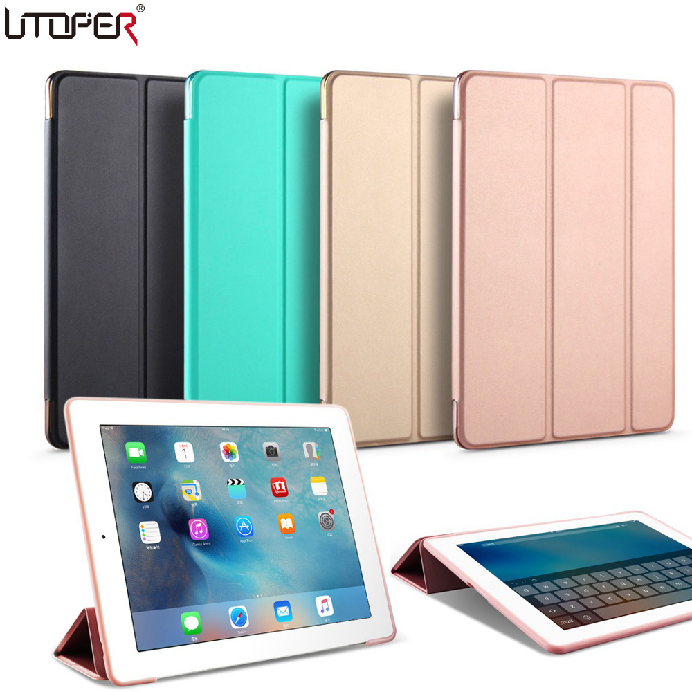UTOPER Trifold YiPPee Color Case For iPad Pro 9.7 inch Case Sleep/Wake Up Flip PU Leather Cover For iPad Pro 9.7 Smart Stand flip left and right stand pu leather case cover for blu vivo air