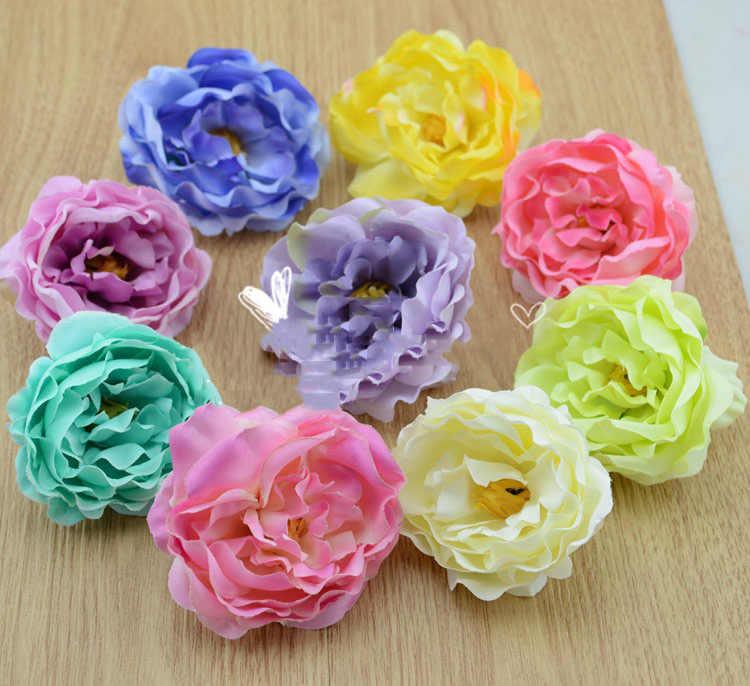 フェイク花シミュレーションの花小さな帽子牡丹の花diyアクセサリー靴ビーチホリデー装飾花ブライダルヘッドドレス