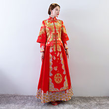 c6b4d8a241a8 Antico costume matrimonio della sposa abbigliamento abito da sposa  tradizionale Cinese delle donne del vestito cheongsam