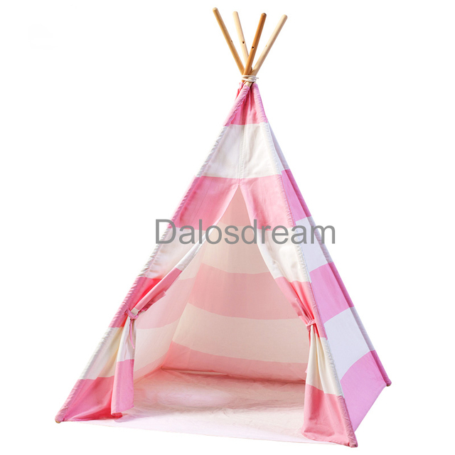 Dalos Dream Teepee For Children Indian Stripes Kids Teepee Cotton Canvas Indoor Children Teepee Tent For  sc 1 st  AliExpress.com & Dalos Dream Teepee For Children Indian Stripes Kids Teepee Cotton ...