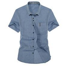 2017 летний новый мужская льняная рубашка Slim fit мужская мода случайные рубашка с короткими рукавами Корейской версии мужчин рубашки