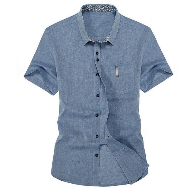 077d03603b 2017 verano nueva camisa de lino de los hombres Slim fit moda casual de los  hombres