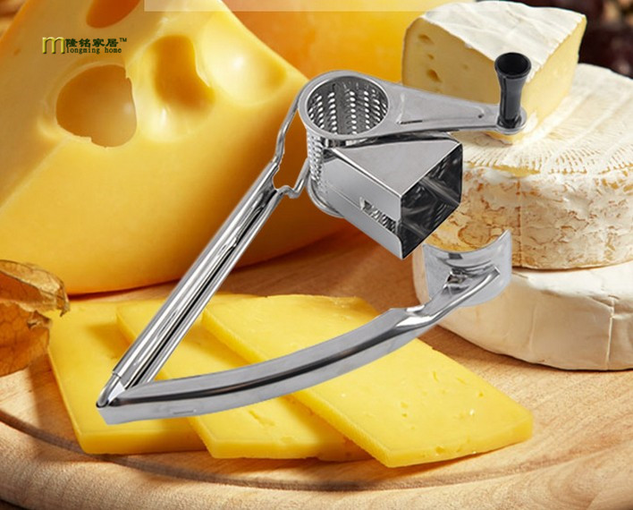 1PC LONGMING HOME Stainless Steel Classic Rotary Cheese Grater Safe Fondue Chocolate Lemon Cooking Baking Tools