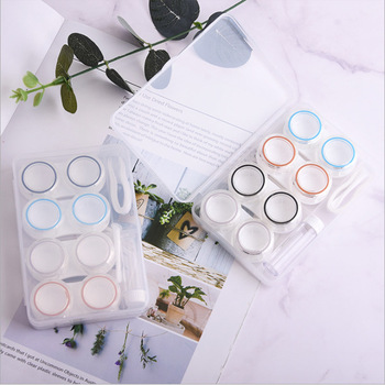 4Pairs Contact Lens Case Candy Colored Many Styles Eye Contact Lens Box Travel Contact Lenses Case Women luxury roundness contact lens case color water eye lens box popular travel lens case contact with mirror