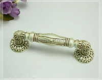 Free Shipping Hole Spacing 4 5 Antique Silver Wood Door Pulls Zinc Alloy Wood Door Handles