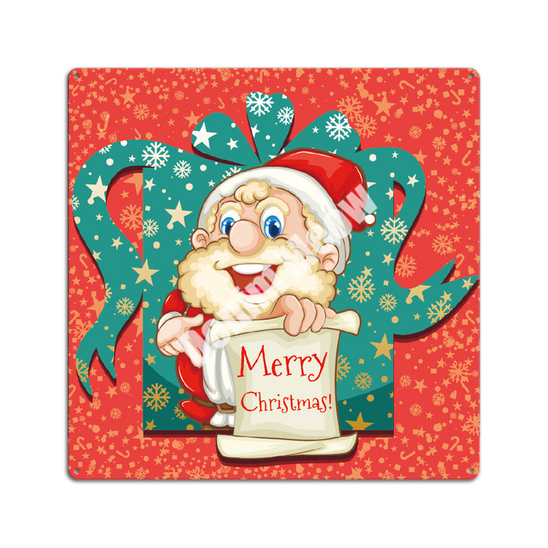 Merry Christmas Plaque Vintage Metal Tin Signs Party Bar Pub Decorative Plates Santa Claus Gift Art Poster Home Decor 30 30CM in Plaques Signs from Home Garden
