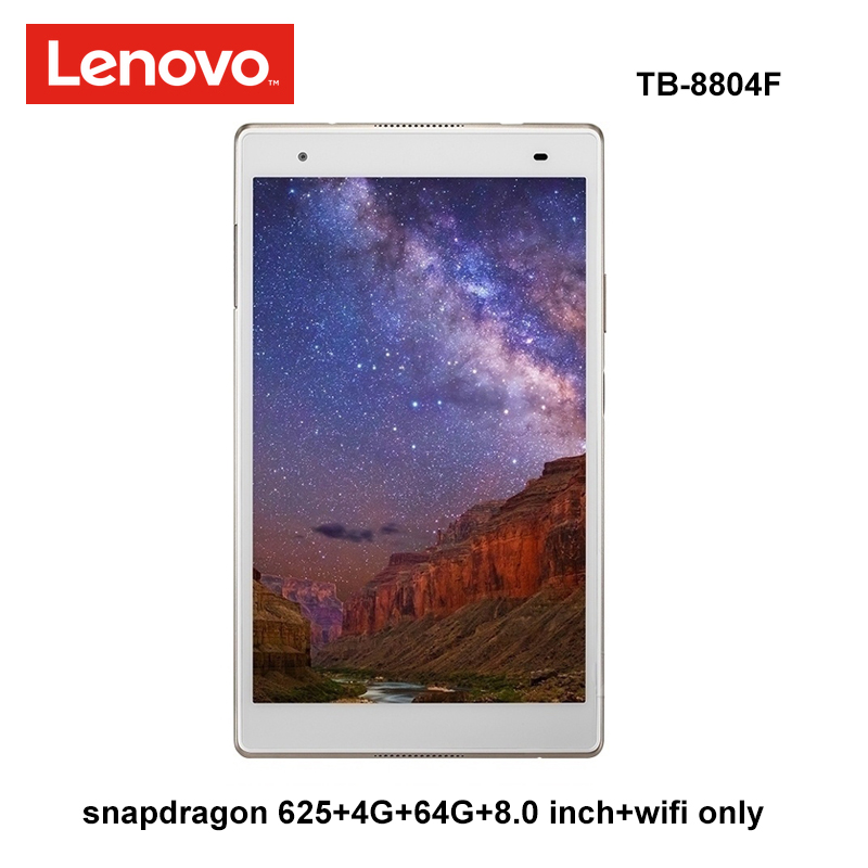 Lenovo xiaoxin 8.0 polegada snapdragon 625 4g ram 64g rom 2.0 ghz octa núcleo android 7.1 ouro 4850 mah tablet pc wifi tb-8804F
