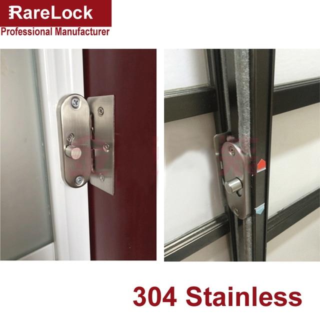 Rarelock Ms447 Stainless Latch Sliding Door Lock Dead Bolt For Women Dress Ing Room Bedroom Bathroom