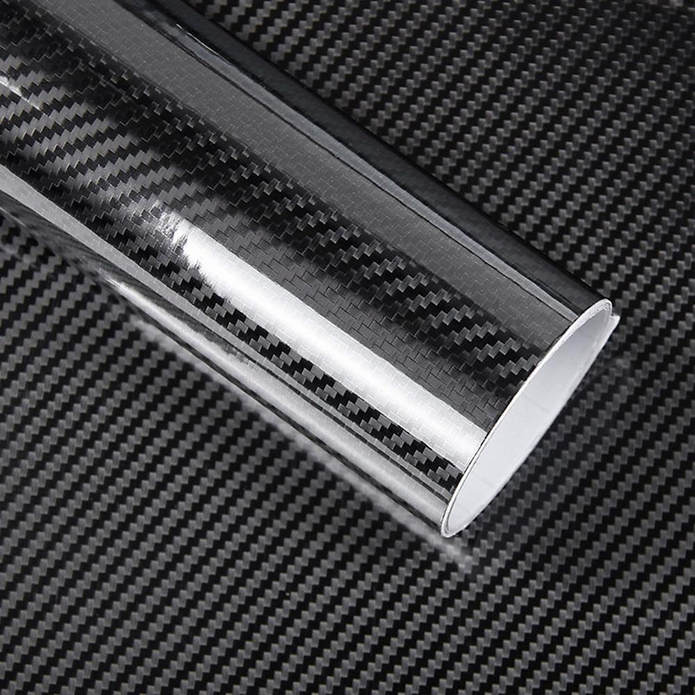 Black 5D Vinyl Film Carbon Fiber Car Wrap Film Carbon Fiber Car Sticker Accessory Auto Film v911 fisheye bearing cross plate carbon fiber shaft power accessory black silvery white