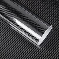 Black 5D Vinyl Film Carbon Fiber Car Wrap Film Carbon Fiber Car Sticker Accessory Auto Film