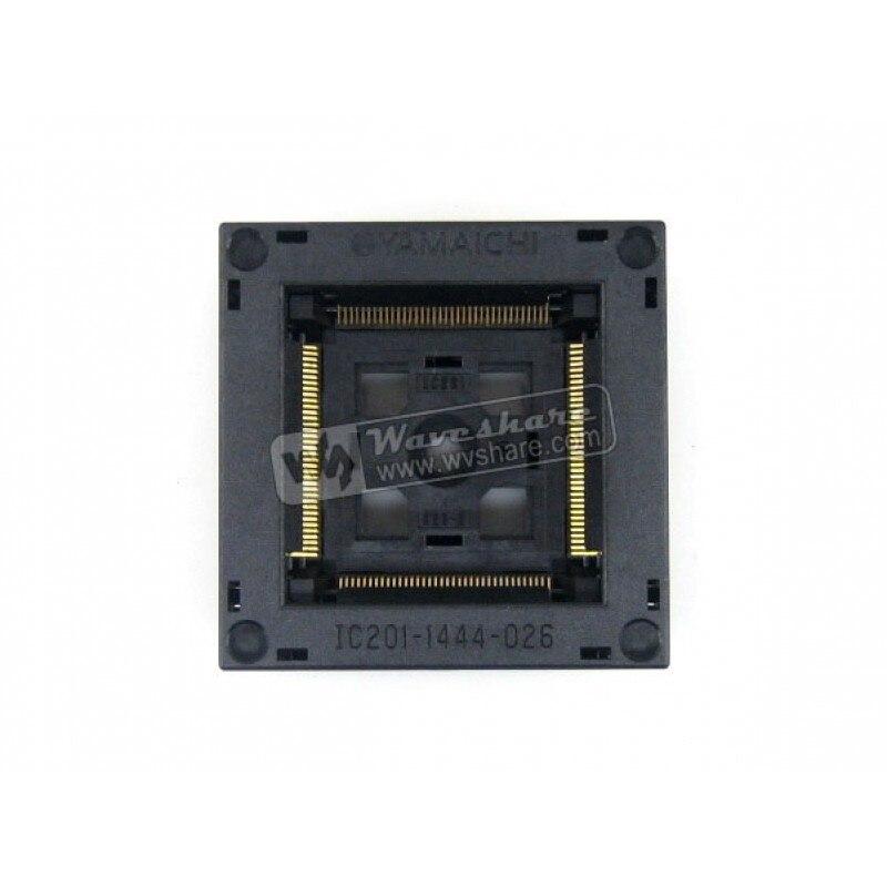 module QFP144 TQFP144 FQFP144 PQFP144 IC201-1444-026 QFP Yamaichi IC Test Burn-in Socket Programming Adapter 0.5mm Pitch