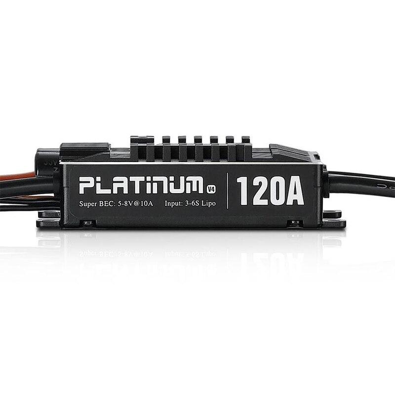 Hobbywing Platinum Pro V4 120A 3-6S Lipo BEC vide moule sans balai ESC pour hélicoptère Drone RC