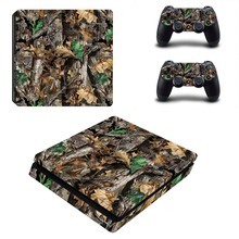 Wood Decal Skin PS4 Slim Console Cover For Playstaion 4 PS4 Slim Skin Stickers+2Pcs Controller Protective Skins