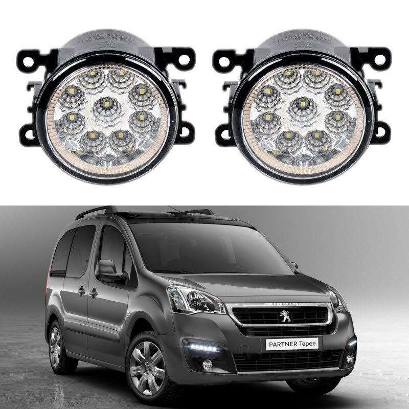 Car-Styling For Peugeot Partner Tepee 2008-2015 9-Pieces Led Fog Lights H11 H8 12V 55W Fog Head Lamp for lexus rx gyl1 ggl15 agl10 450h awd 350 awd 2008 2013 car styling led fog lights high brightness fog lamps 1set