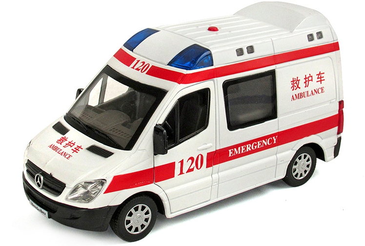 The Ambulance Toy Model Car Children Back In Acousto optic