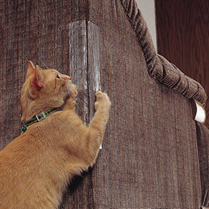 Cat Scratching Corner Guard No Pins Needed For Cat Scratching Furniture Couch Pet Scratchers Protective Stickers 2pcs/set
