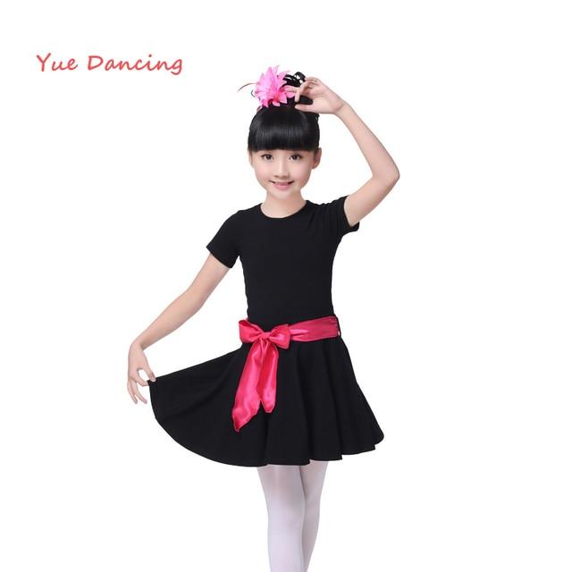 ec57b4751 Black O neck Ballet Clothes Children Kids Gymnastics Leotard Girls ...