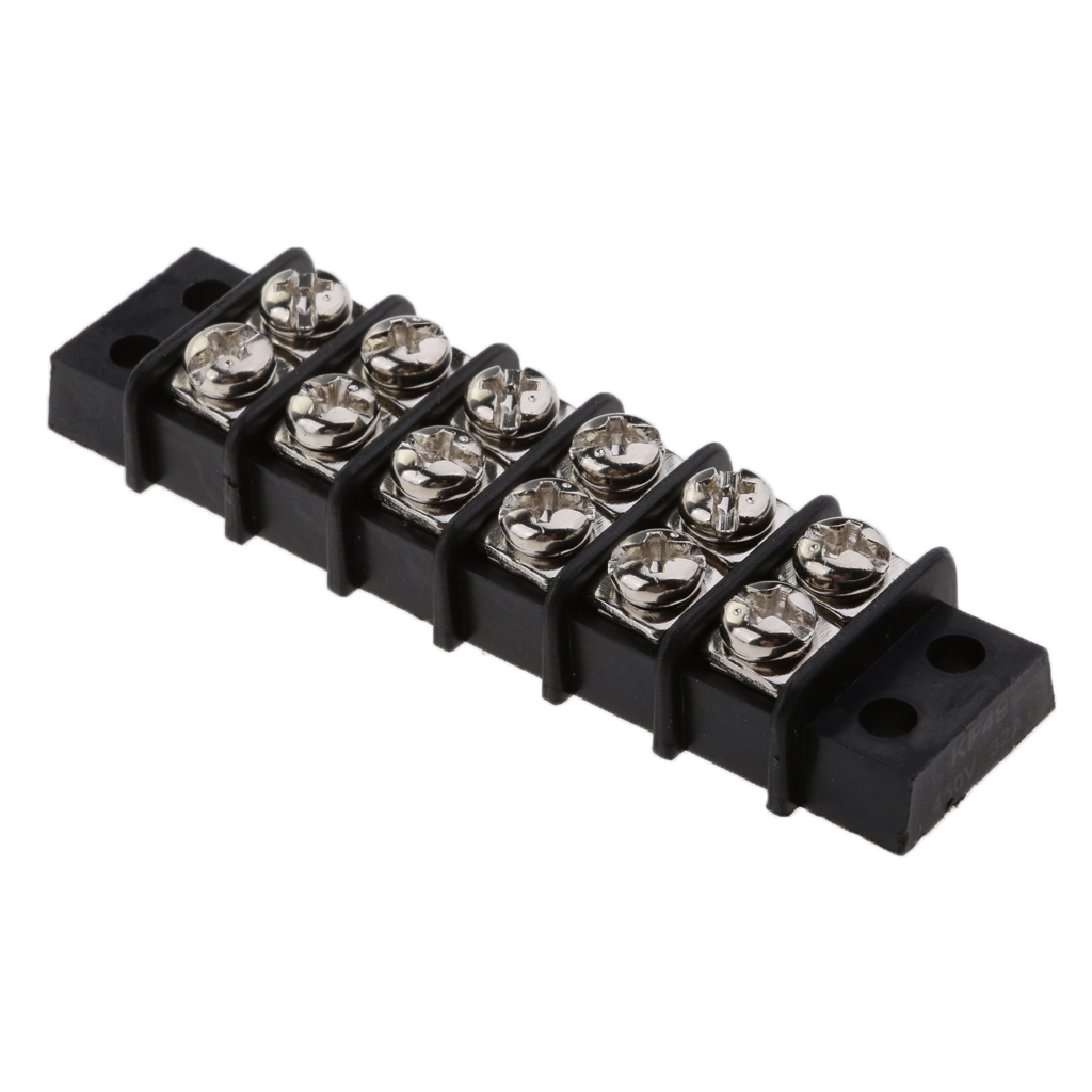 Image 5 - 1 Pcs Boat 6 Way Screw to Screw Dual Row Barrier Terminal Block Bus Bar 30A 12V Insulator Base For Boat Yacht RV Etc-in Marine Hardware from Automobiles & Motorcycles