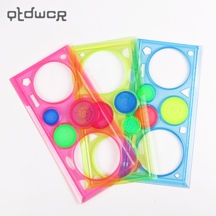 2PCS Spirograph Geometric Ruler Drafting Tools Stationery for Students Drawing Set Learning Art Sets Creative Gift for Children