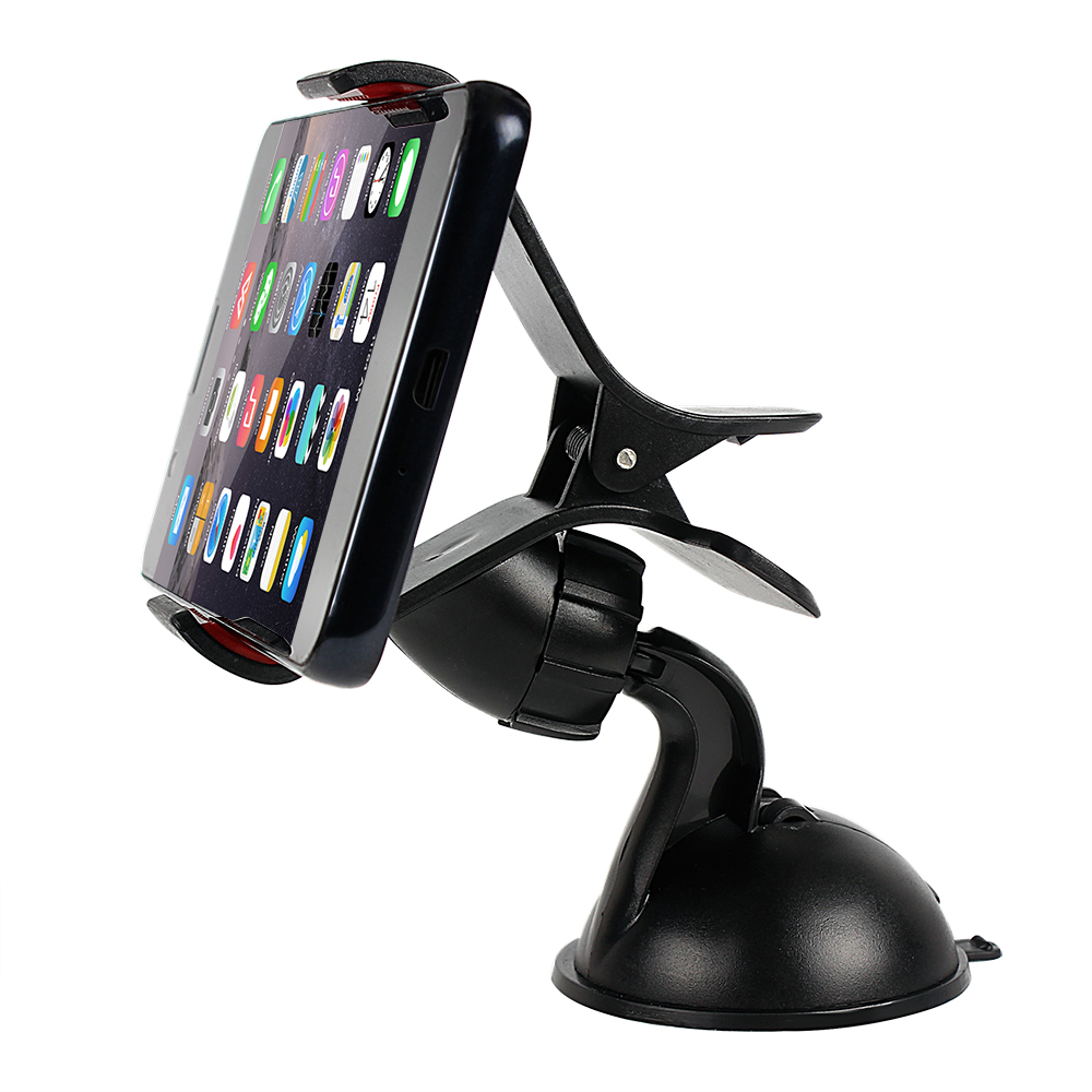 Universal Car Phone Holder GPS Stand 360 Drej Justerbar Dashboard Vindskærm Mobiltelefon Holder Til iPhone 5 6 Plus Samsung