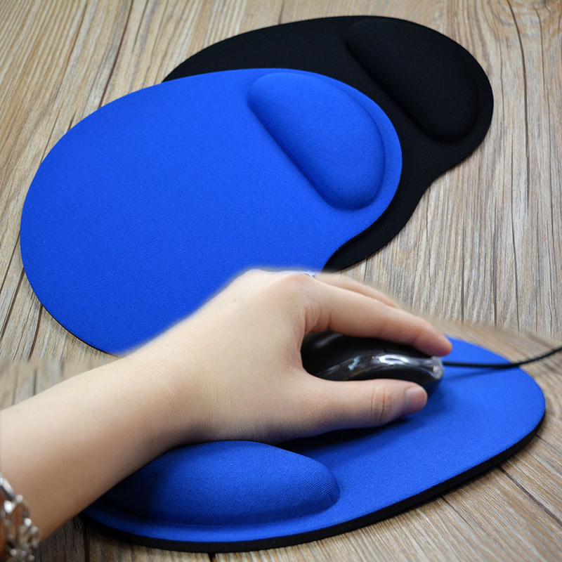 8 Color Small Feet Computer Game Creative Solid Color Environmental Protection EVA Wristband Antifriction Anti-washing Mouse Pad