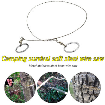 Tools Outdoor Wire Emergency Camping Stainless Bone Travel Rubber Survival Soft Steel Outdoor survival wire saw Metal Saw Saw